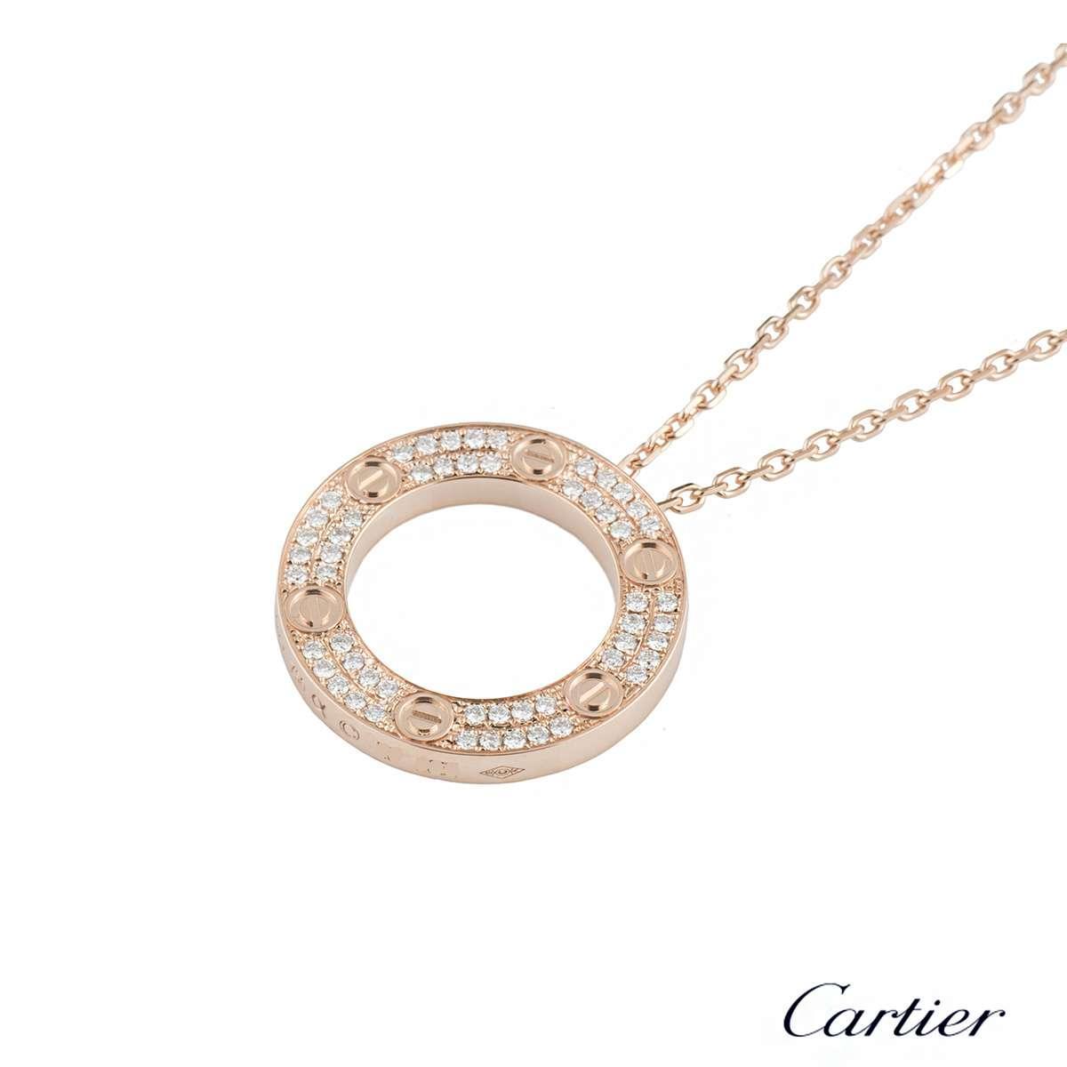 Cartier rose gold diamond love pendant b7224527 rich diamonds of cartier rose gold diamond love pendant b7224527 aloadofball Image collections